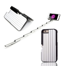 Load image into Gallery viewer, 3 in 1 Aluminium Selfie Stick Case For iPhone