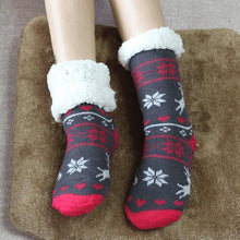 Load image into Gallery viewer, Christmas Winter Slipper Socks