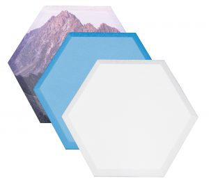 "Paintable Element Hexagon Wall Panels (14""x16"") - 1.5"" Thick (Box of 12)"