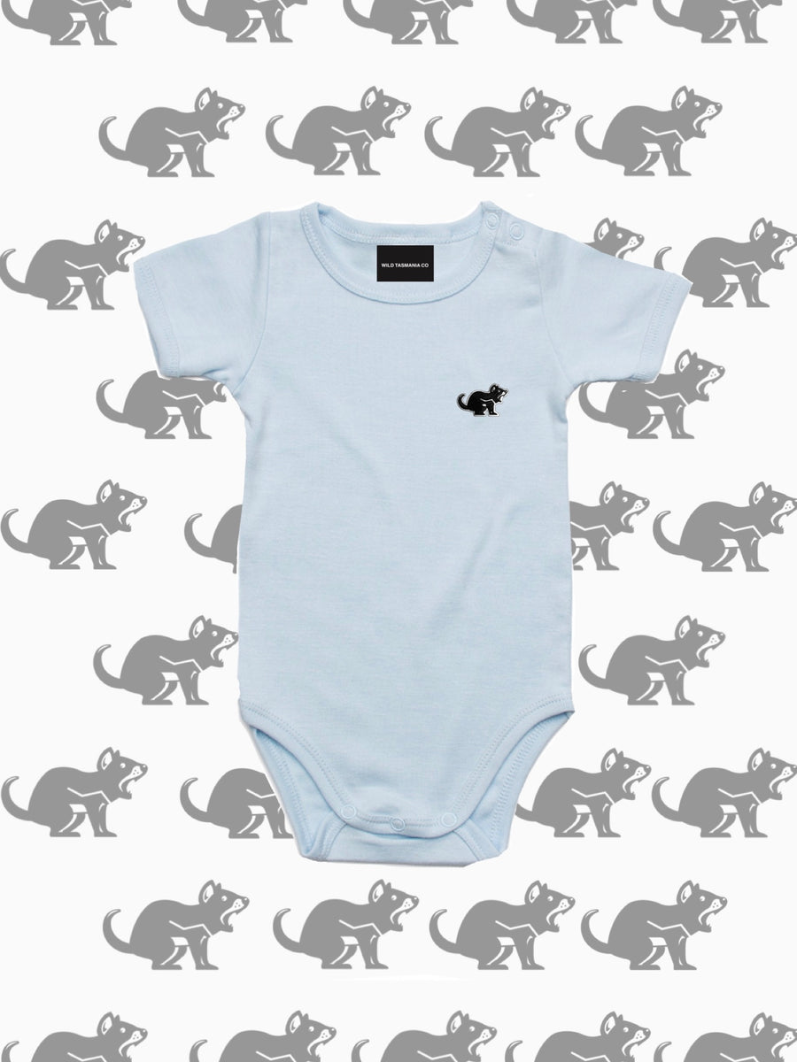POWDER BLUE WILD BABY ROMPER