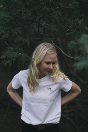 LADIES WILD + FREE TEE | WHITE
