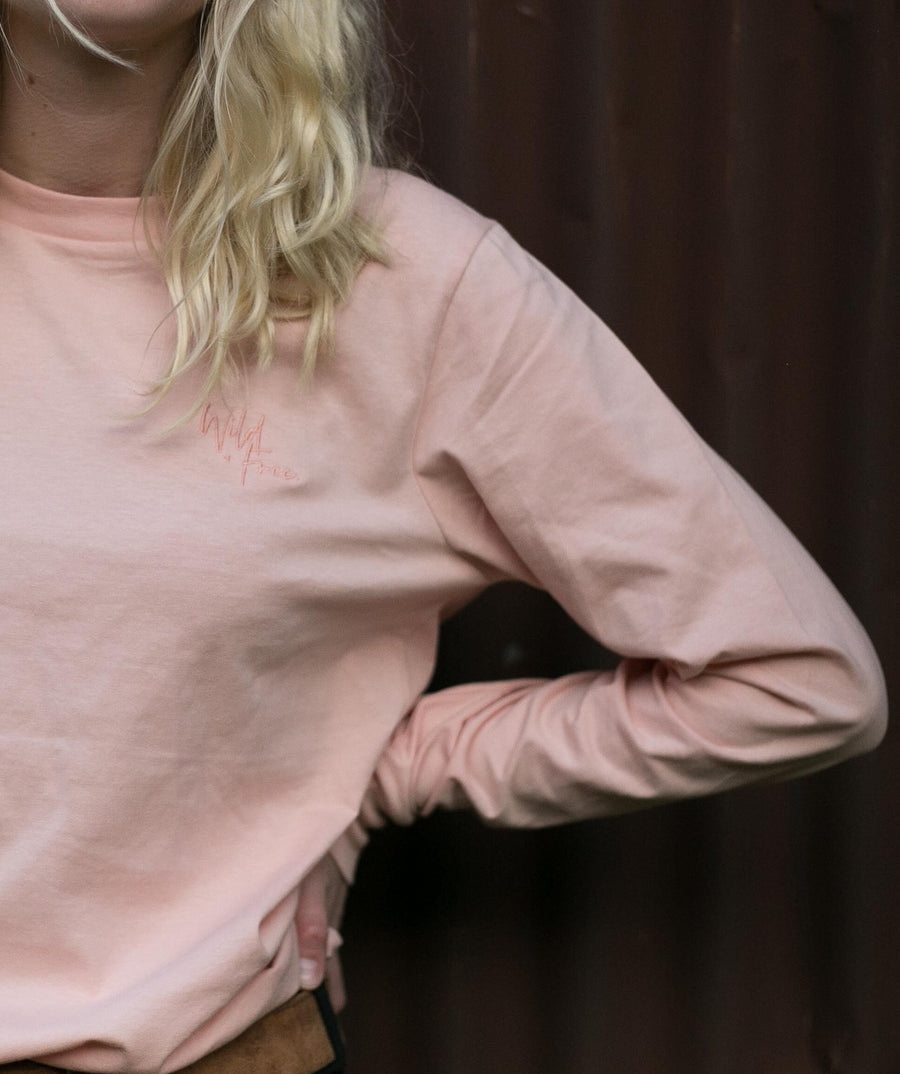 WILD + FREE LONG SLEEVE | PEACHY PINK