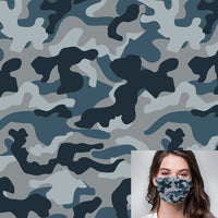 Blue Jean Camo Printed Mask