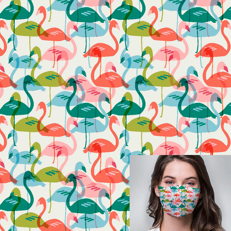 Flamingo Party Printed Mask
