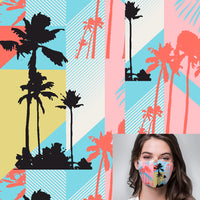 Miami Palm Trees Printed Mask