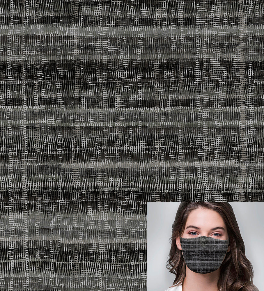 Textured Charcoal Printed Mask