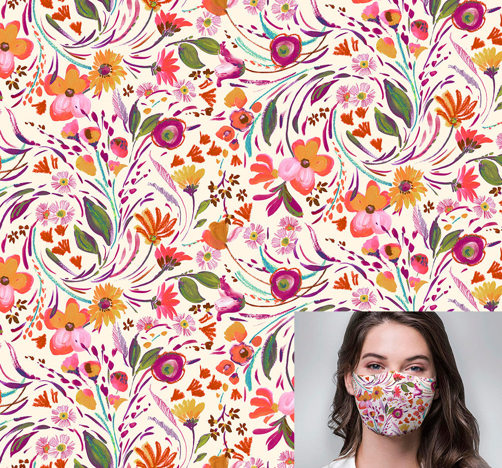 Freedom Floral Printed Mask