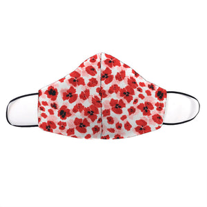 Sweet Red Poppy Printed Mask