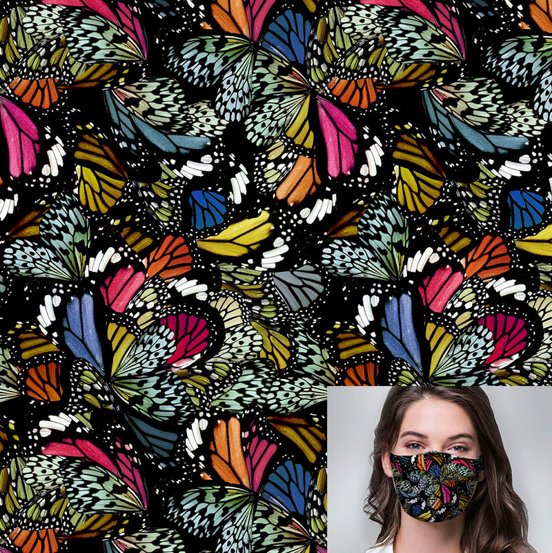 Abstract Wings Printed Mask