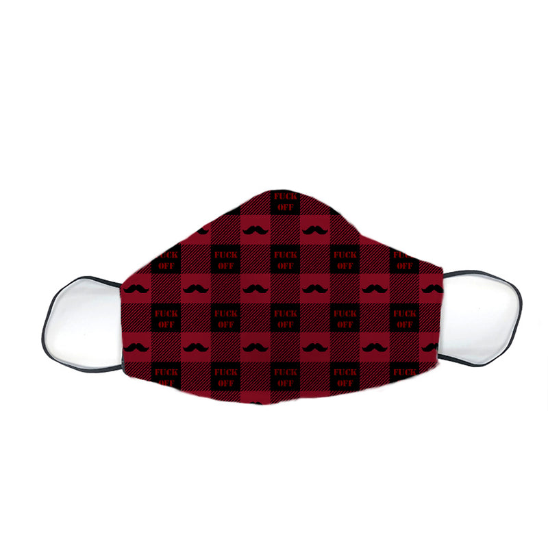 Eh F Off Plaid Printed Mask