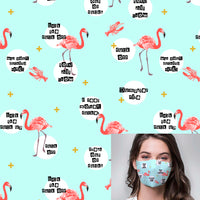 Tropical Insults Printed Mask