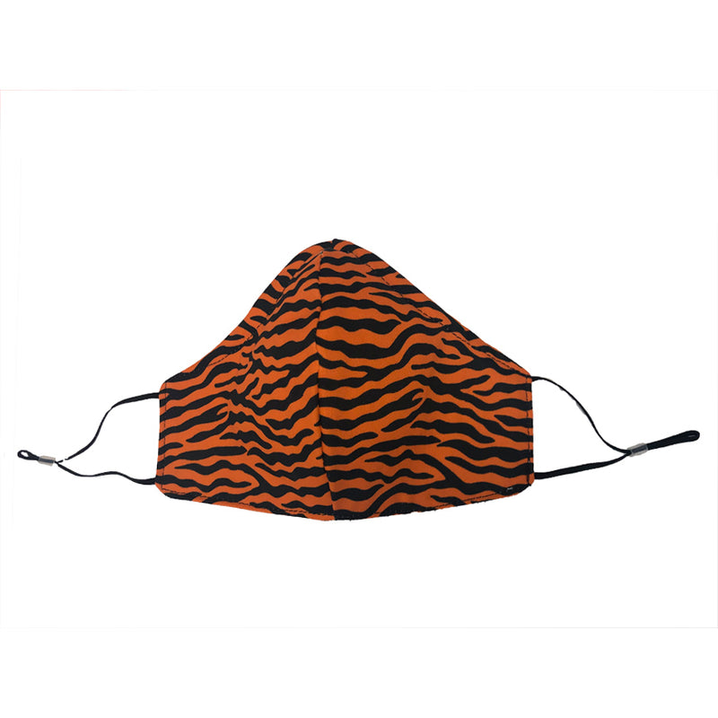 Orange Tiger Stripes Youth Sized Printed Masks