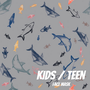 Sharks Youth Sized Printed Masks