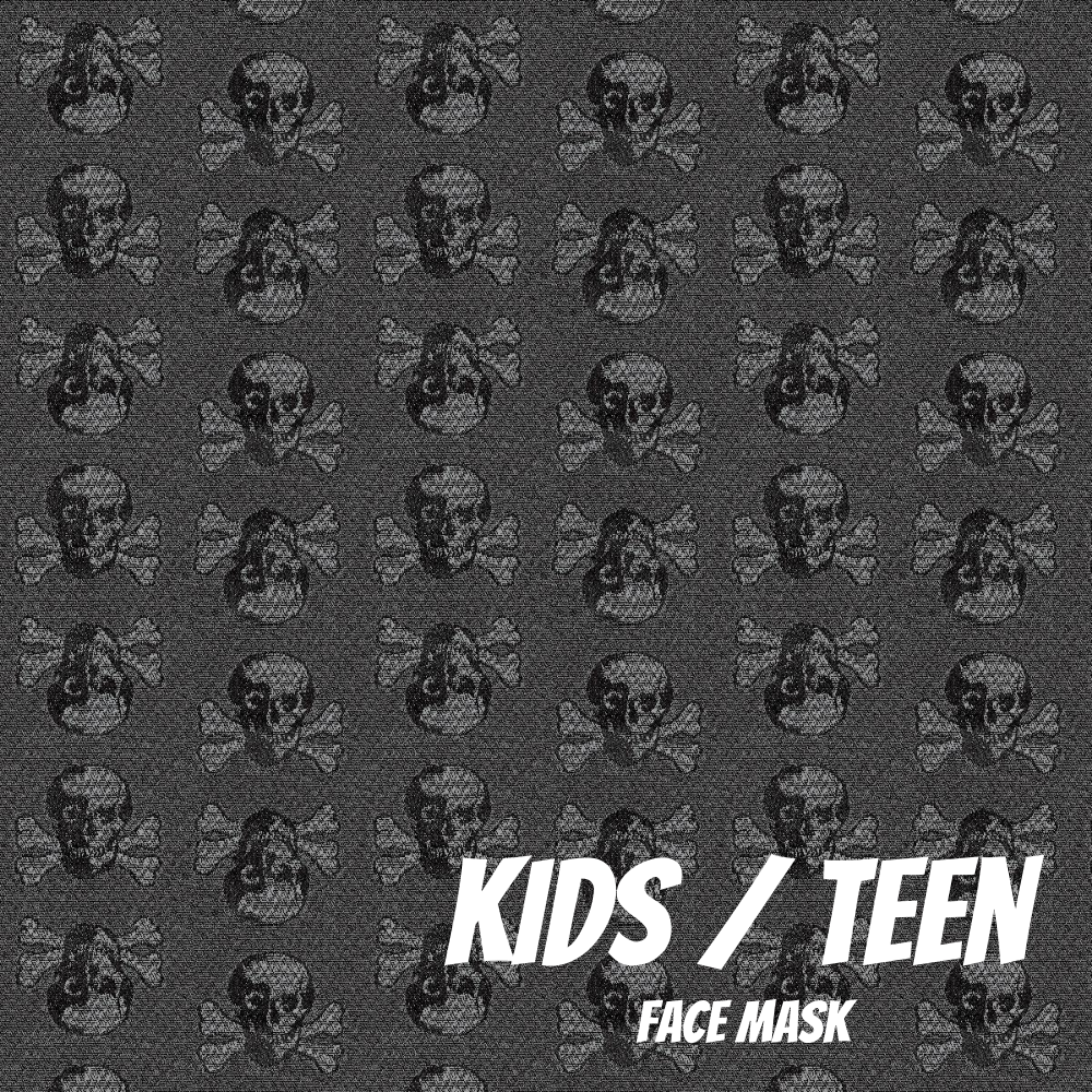 Subtle Skulls Youth Sized Printed Masks