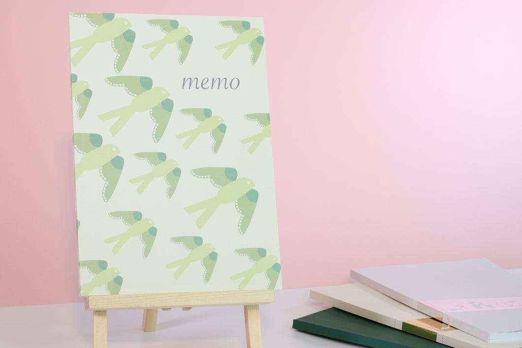 Birds Memo Lined Notebook