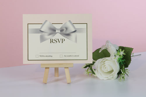 Deluxe Bow Wedding RSVP Cards