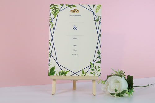 Leaf Themed Wedding Invitations