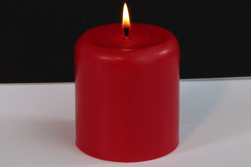 Cherry Scented Soy Wax Pillar Candle