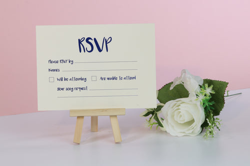 Deluxe Clean & Simple Wedding RSVP Cards