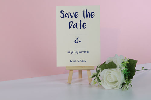 Deluxe Clean & Simple Wedding Save The Date Cards
