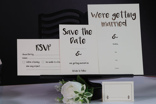 Deluxe Clean & Simple Wedding Stationery Set