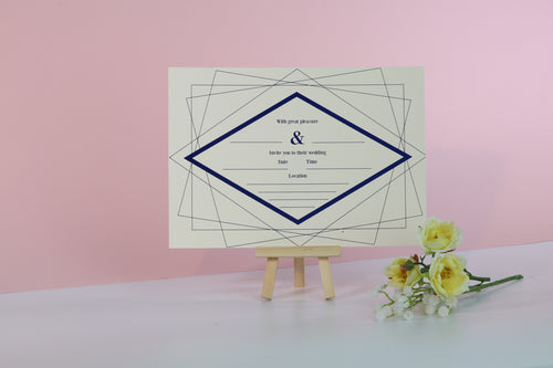 Deluxe Diamond Wedding Invitations