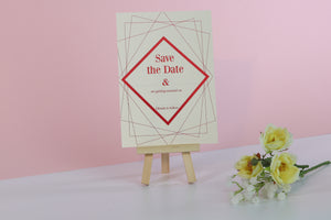 Deluxe Diamond Wedding Save The Date Cards
