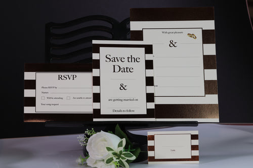 Deluxe Striped Wedding Stationery Set