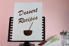 Load image into Gallery viewer, Dessert Recipe Notebook