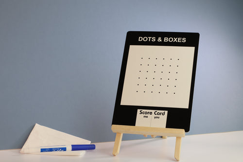 Dots & Boxes Dry Wipe Marker Board