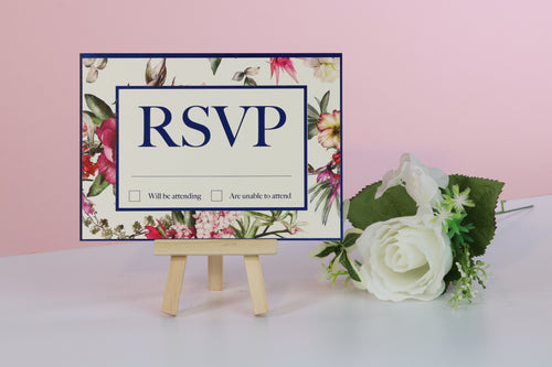 Deluxe Floral Wedding RSVP Cards