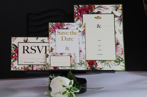 Deluxe Floral Wedding Stationery Set