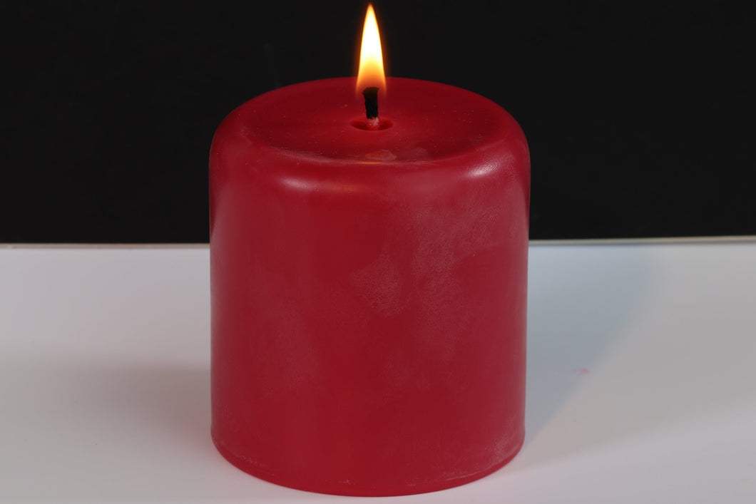 Garden Rose Scented Soy Wax Pillar Candle