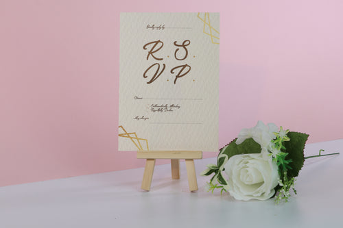 Deluxe Gold Wedding RSVP Cards