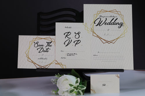 Deluxe Gold Wedding Stationery Set