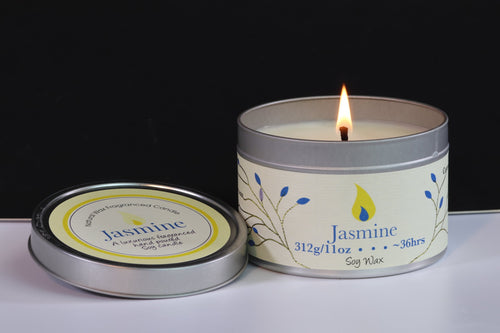 Jasmin Scented Soy Wax Tin Candle