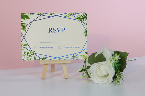 Deluxe Leaf Themed Wedding RSVP Cards