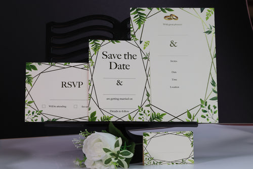 Deluxe Leaf Themed Wedding Stationery Set