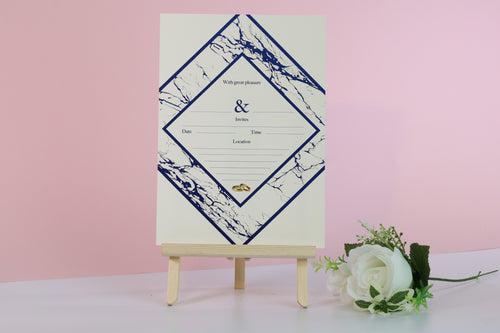 Deluxe Marble Themed Wedding Invitations