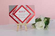 Load image into Gallery viewer, Deluxe Marble Themed Wedding RSVP Cards