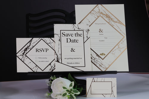 Deluxe Marble Themed Wedding Stationery Set