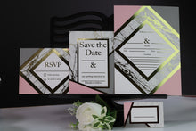 Load image into Gallery viewer, Deluxe Marble Themed Wedding Stationery Set