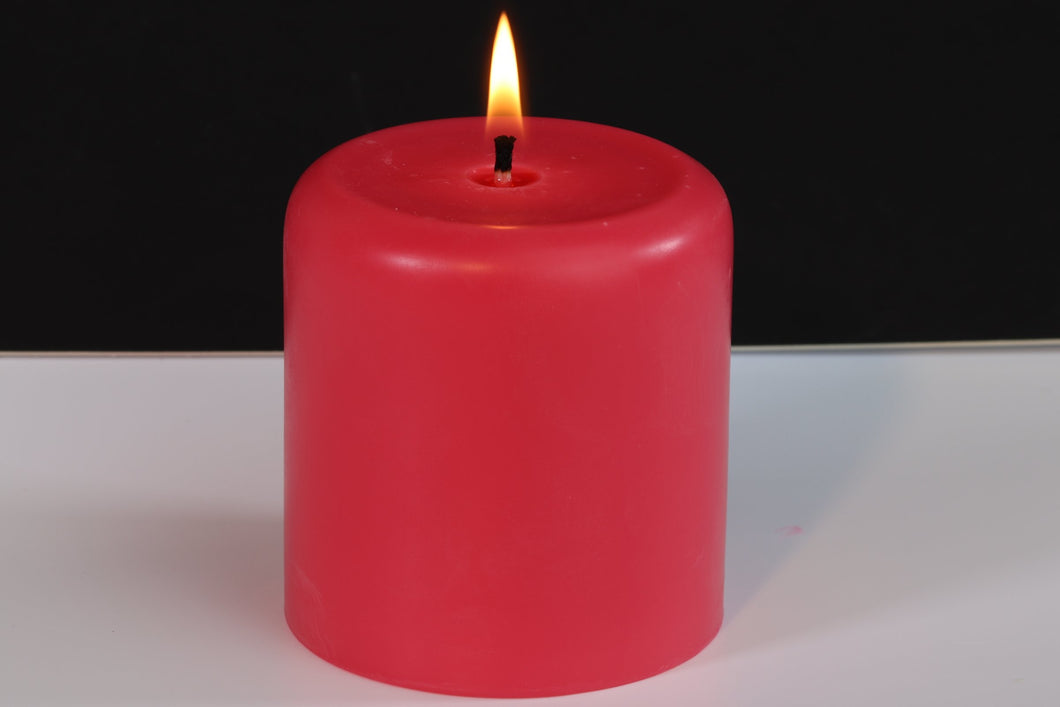 Orchid Scented Soy Wax Pillar Candle