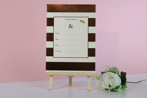 Deluxe Striped Wedding Invitations