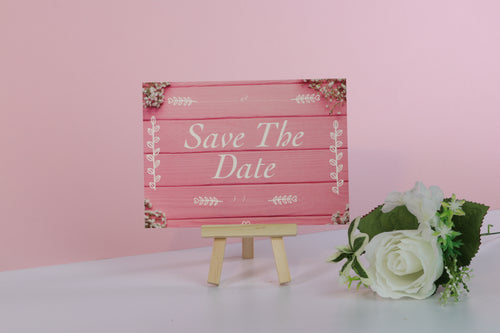 Pink Wedding Save The Date Cards