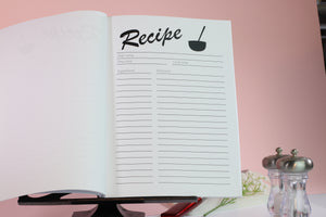 Recipe book inside pages