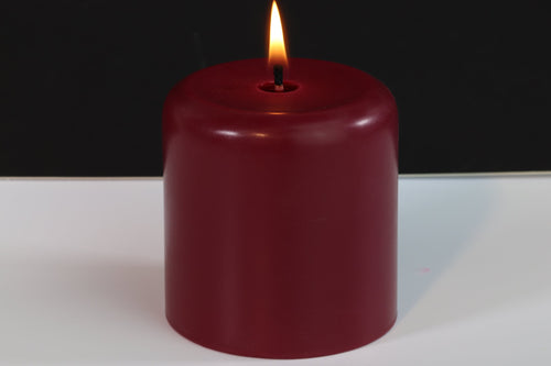 Rosewood Scented Soy Wax Pillar Candle