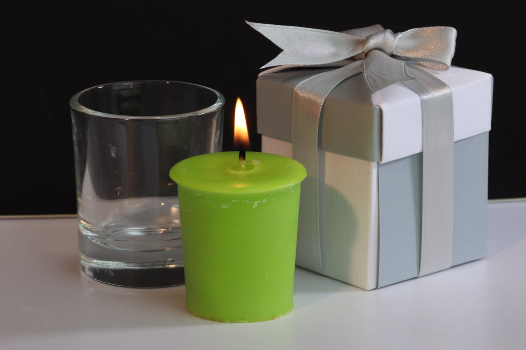 Citronella Scented Soy Wax Votive Candle (Repel Insects)