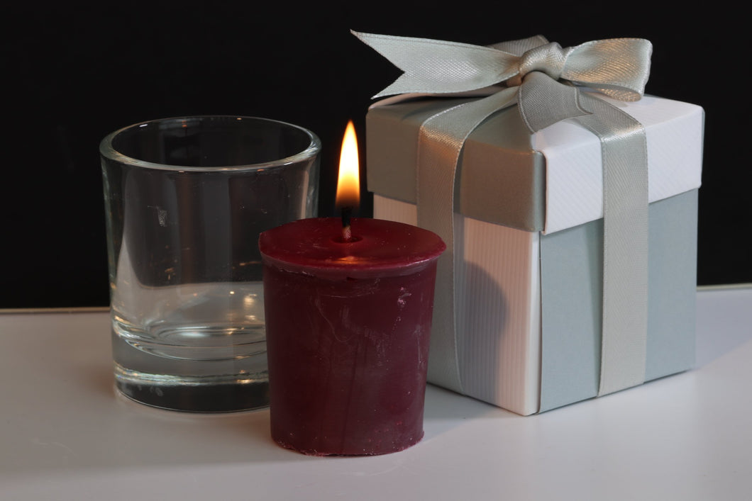 Rosewood Scented Soy Wax Votive Candle