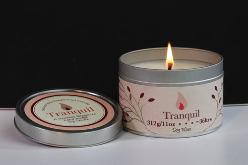 Tranquil Scented Soy Wax Tin Candle